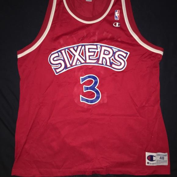 timeless design 33f17 9298e Vintage Allen Iverson Philadelphia 76ers Jersey XL